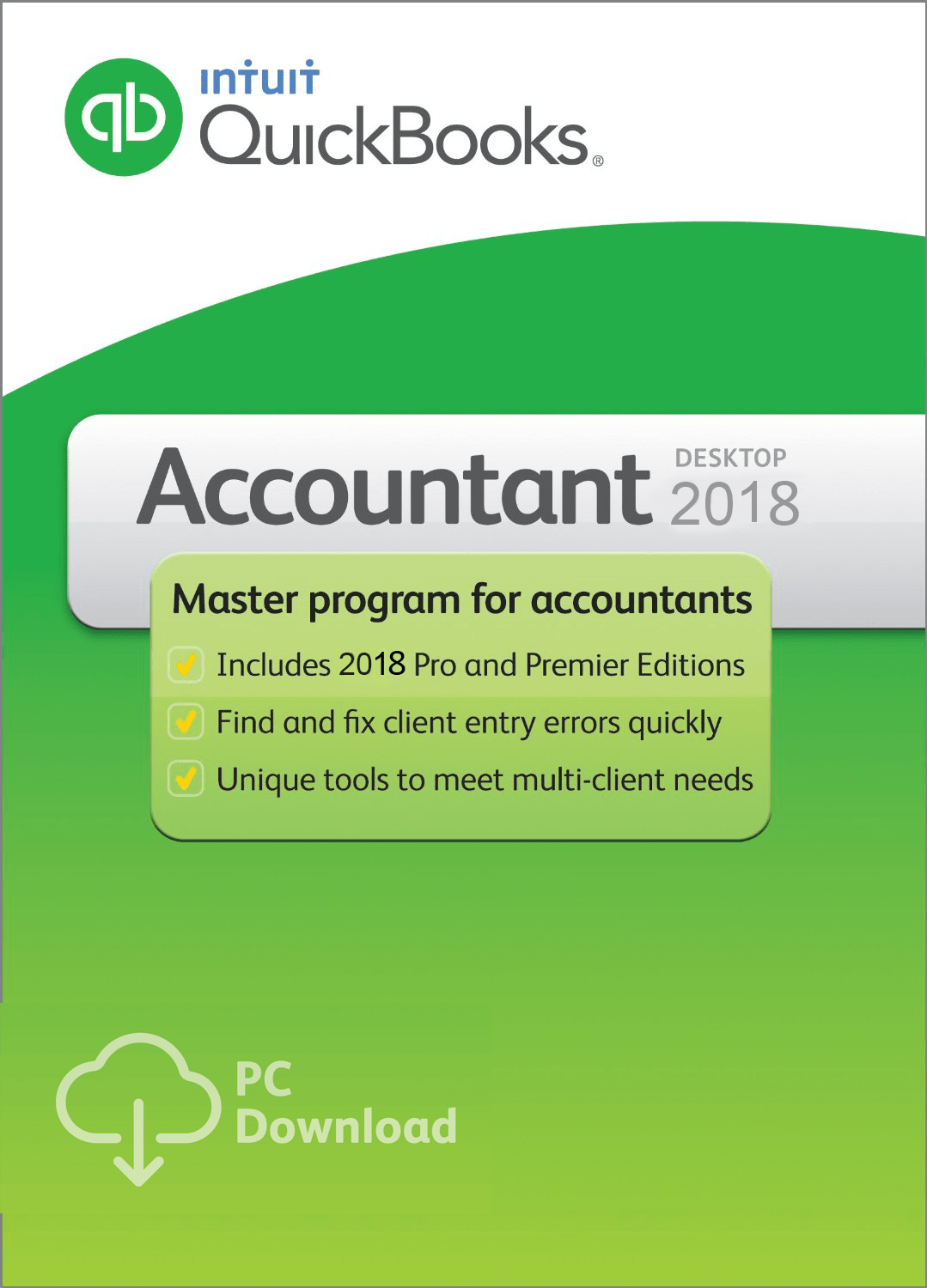 QuickBooks Accountant Edition User License Downloadable - Download quickbooks products