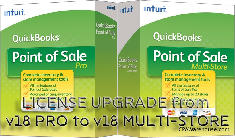 Upgrade from QuickBooks Point of Sale v18 PRO to v18 Multi-Store version