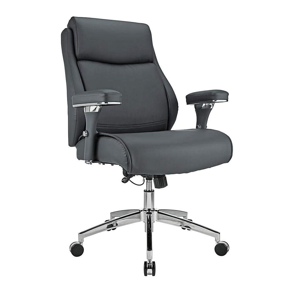 Realspace Modern Comfort Keera Bonded Leather Mid Back